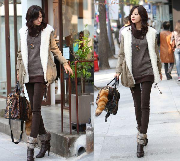 2 Pc Coat Fur Kode Cs Qt98098black Zahira Boutique Olshop Pretty Stylish Confident