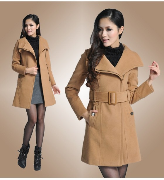BAJU MUSIM DINGIN - LONG COAT KOREA - JYB331172 LightTan(1)