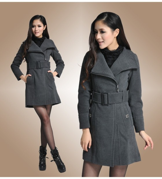 LONG COAT KOREA - BAJU MUSIM DINGIN - JYB331172 Gray(2)