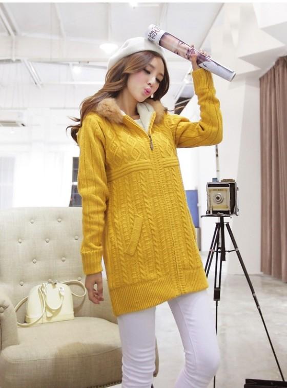 BAJU MUSIM DINGIN - F301312 Yellow(2)