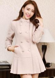 LONG COAT WANITA KOREA  - JYD8353 Pink(2)