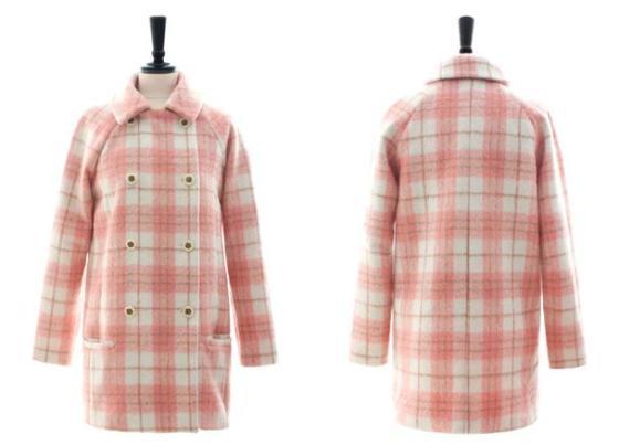 LONG COAT WANITA KOREA - JAKET MUSIM DINGIN - R67085 Pink(3)