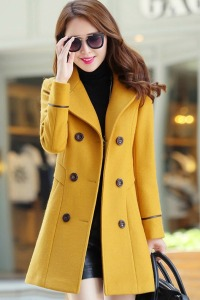 LONG COAT KOREA - JAKET MUSIM DINGIN WANITA KOREA - JYY439-6262 Yellow-3666-5641c299b6a6a